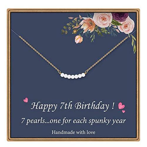 7th birthday necklace