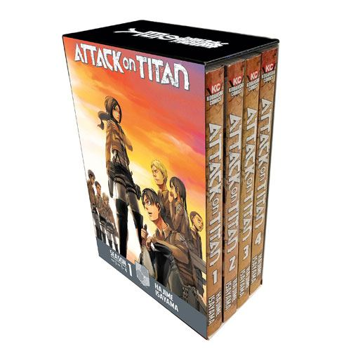 attack on titan manga box set
