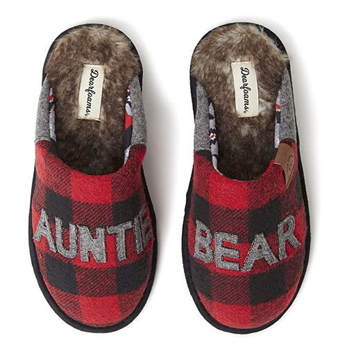 auntie bear slippers gift
