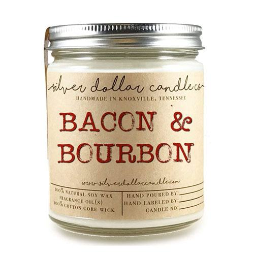 bacon bourbon candle gift
