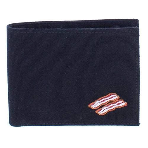 bacon bifold wallet