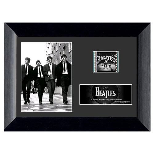 authentic beatles framed film cell