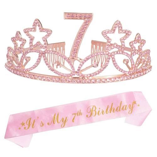 7th birthday tiara and sash