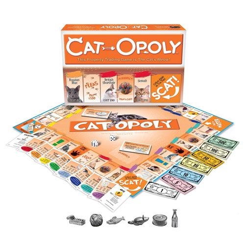 cat-opoly board game gift