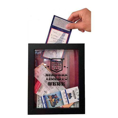 concert ticket shadow box
