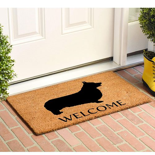 welsh corgi doormat