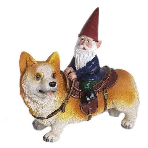 corgi gnome statue