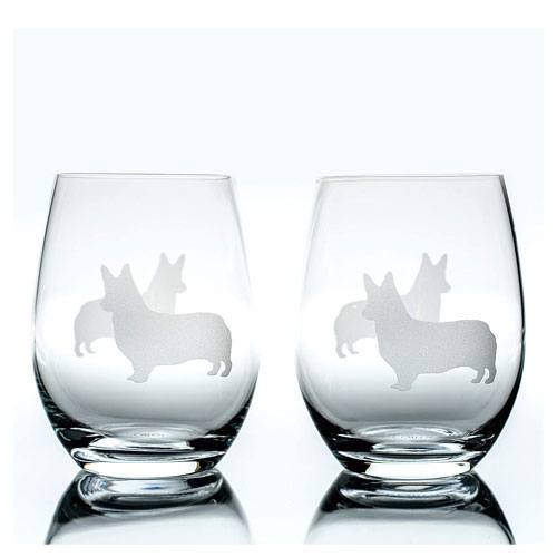 stemless wine glasses pair