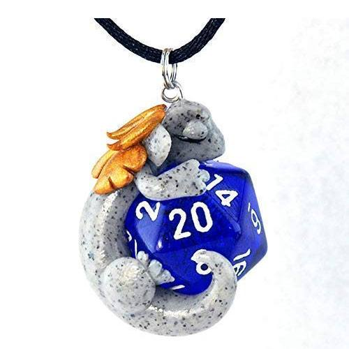 d20 dragon pendant