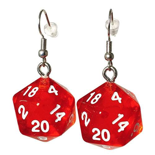 d20 dice earrings