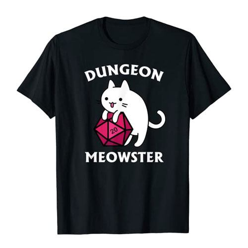 dungeon meowster t shirt