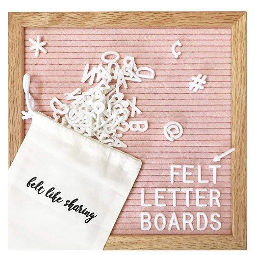 felt letter board present