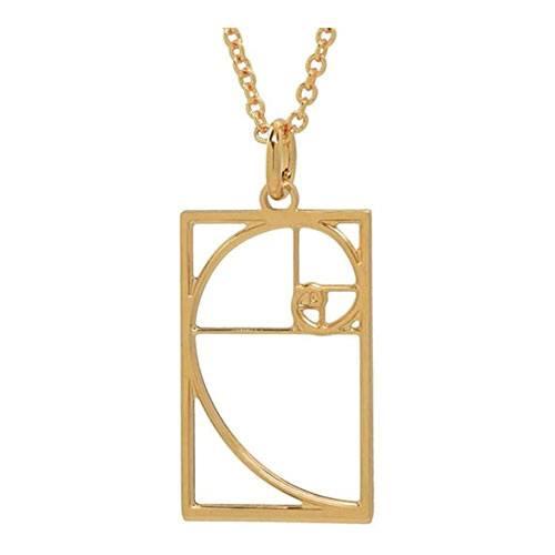 fibonacci spiral necklace present