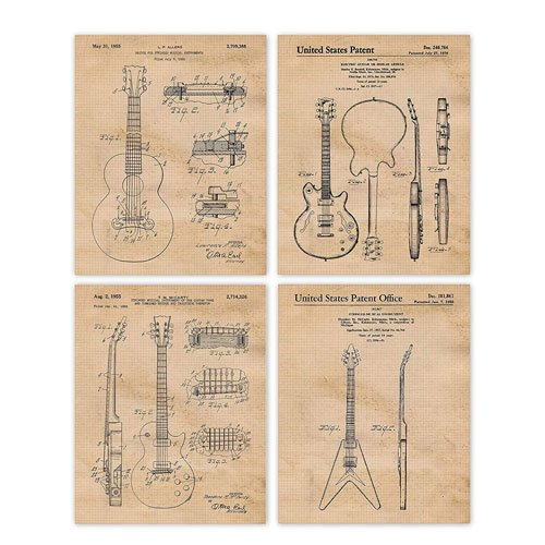 gibson guitar patent posters