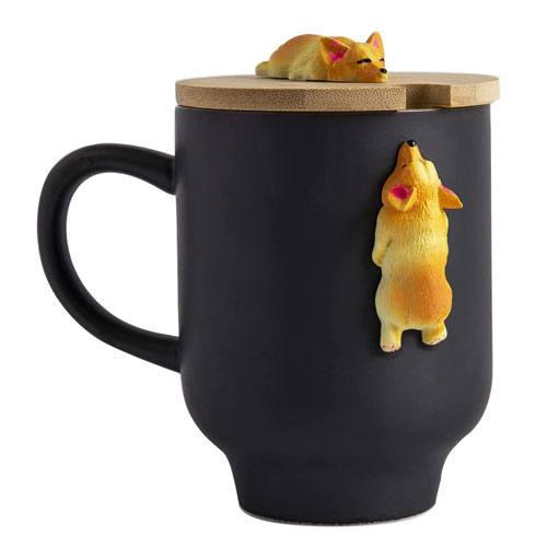 hand crafted corgi mug