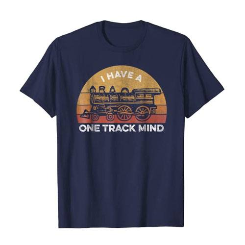 i have a one track mind t-shirt