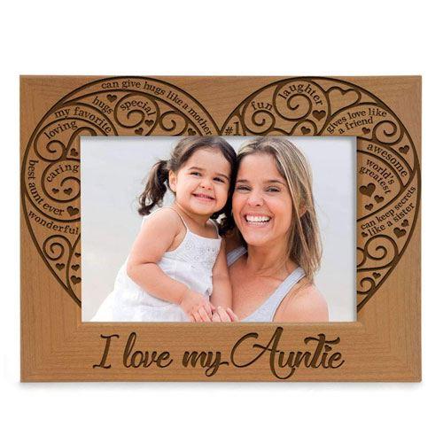 i love my auntie photo frame