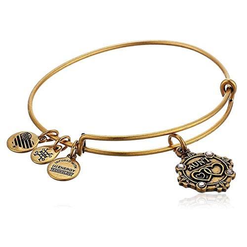 i love you aunt bangle bracelet with charms