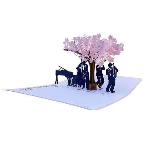 jazz band pop up card