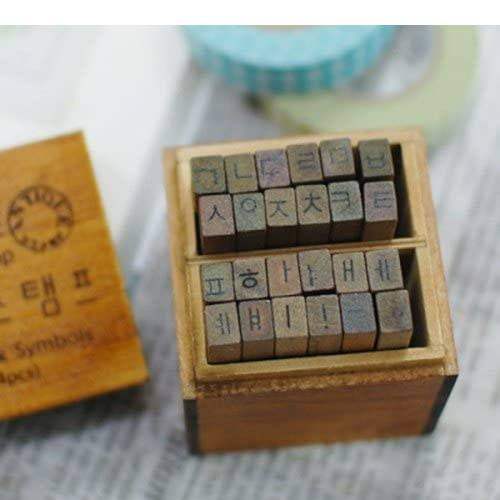 korean alphabet stamp letters
