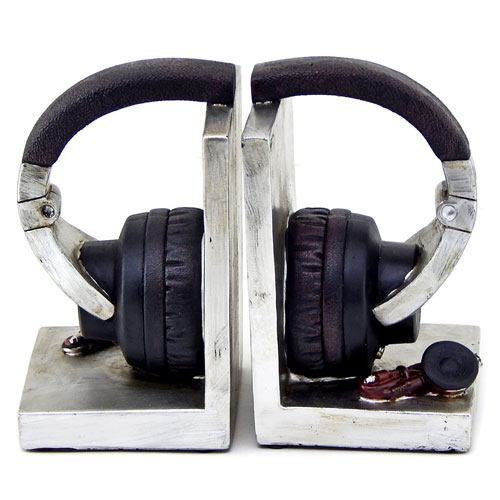 headphone bookends for music lovers