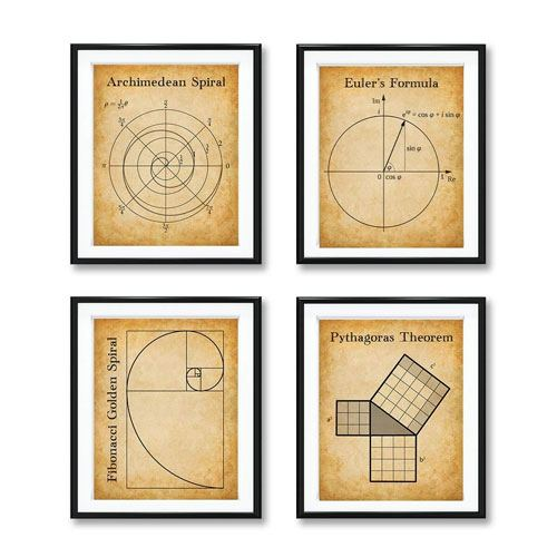 math art prints set