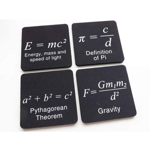 math formula drink coasters