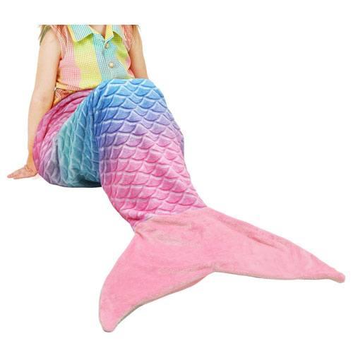 mermaid tail blanket present