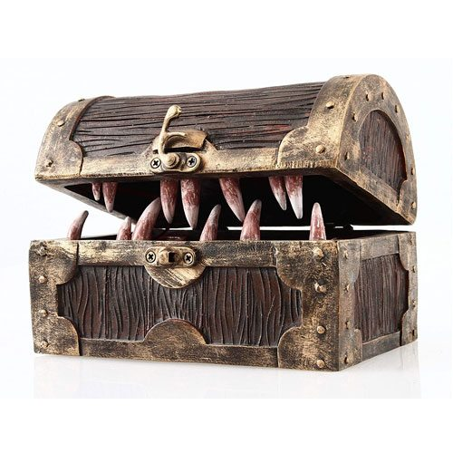 mimic chest dice storage box