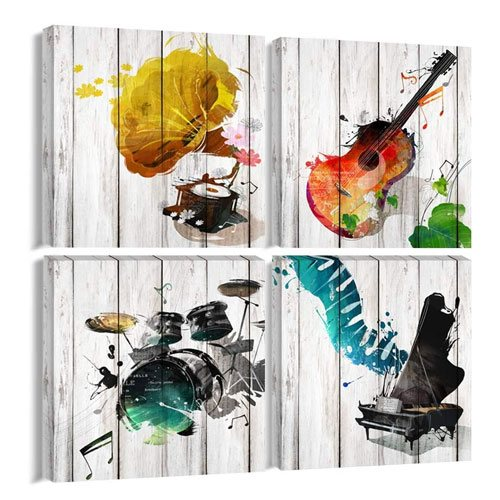 music canvas wall art