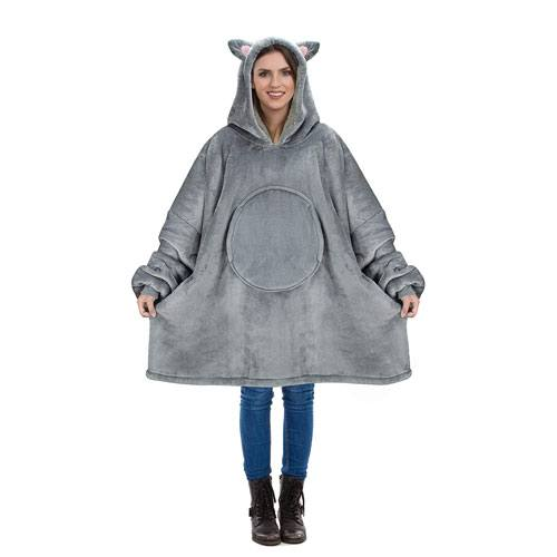 oversized cat sherpa hoodie