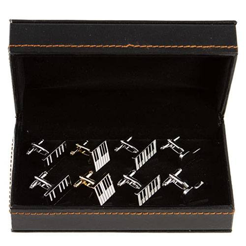 piano cufflinks gift set