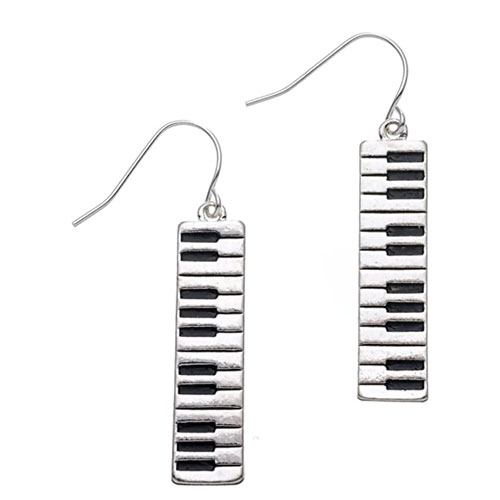 keyboard music earrings
