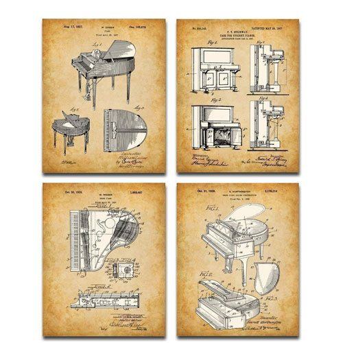piano patent art prints