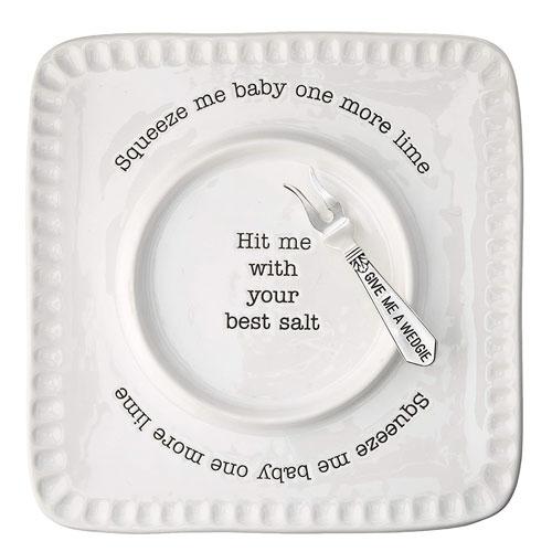 lime & salt rimmer plate