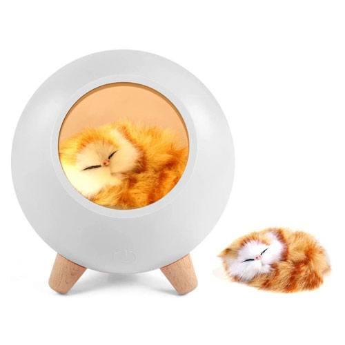 sleeping cat night light