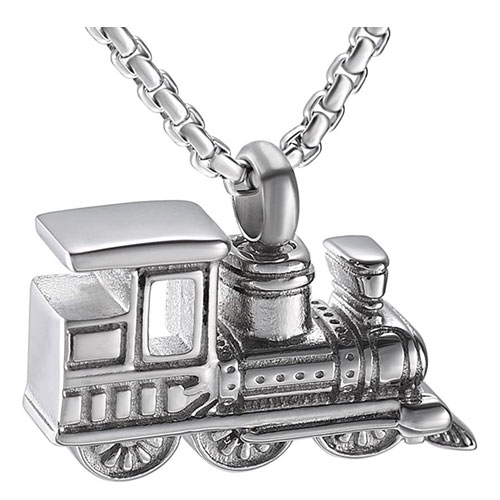 stainless steel train pendant
