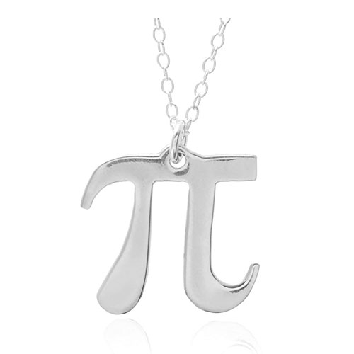 sterling silver pi necklace