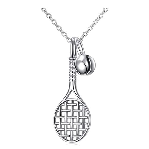 sterling silver racquet pendant