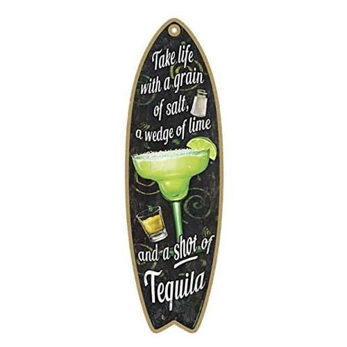 surfboard wooden plaque bar sign