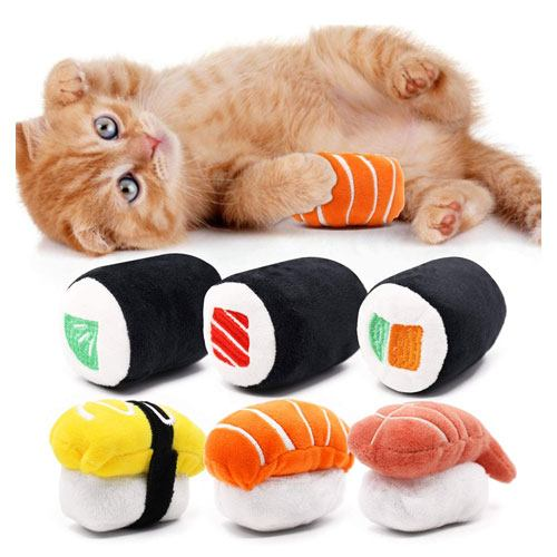 sushi cat toys for cat lovers