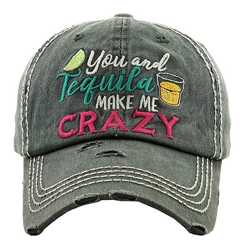 embroidered tequila baseball cap