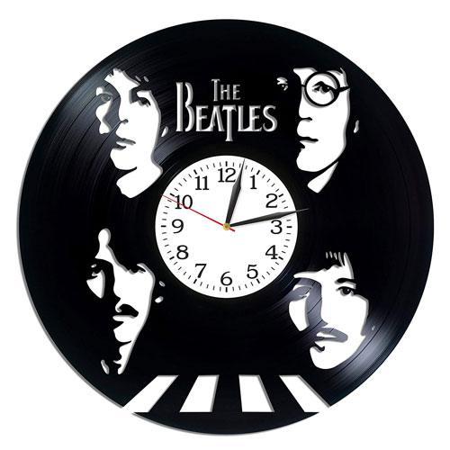 the beatles vinyl clock