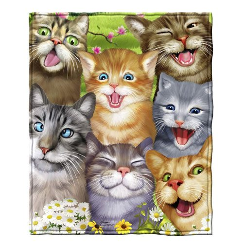 cats soft throw blanket