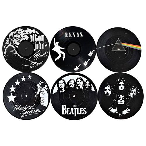 vinyl record coasters for music lovers