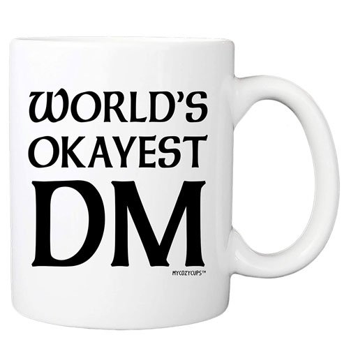 world's okayest DM mug gift