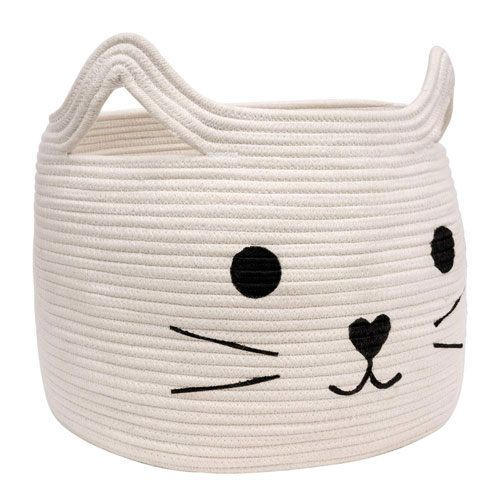 woven cat storage basket