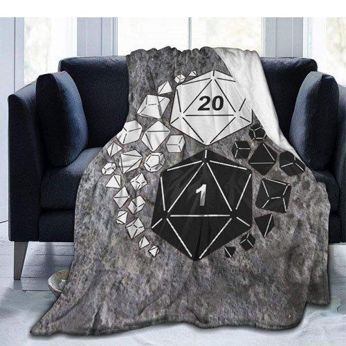 ying yang dice blanket