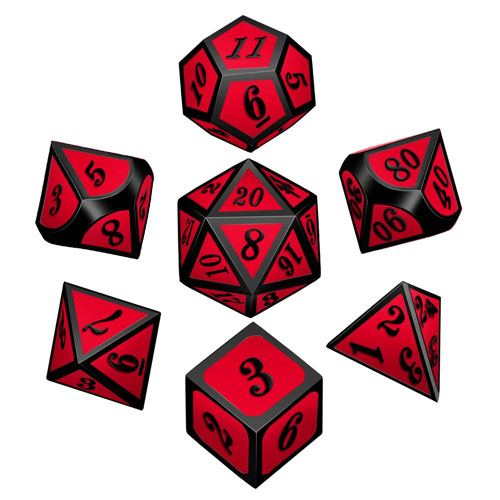 zinc metal dice set