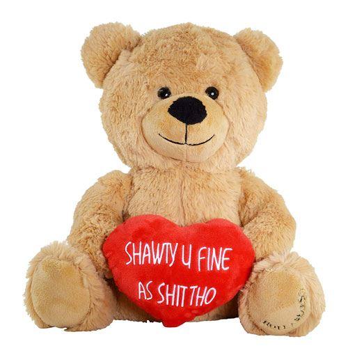 shawty u fine teddy bear toy